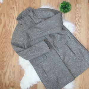 Vince Camuto Grey Long Coat L EUC